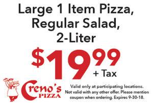 Large 1 Item Pizza Regular Salad